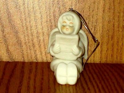 Kurt Adler Ceramic Angel with Song Book  Christmas Tree Ornament New with Tag