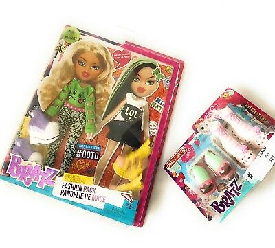 Bratz Deluxe Fashion Pack Raya - Jade Doll Clothes Set 2 Full Outfits + 2 shoes