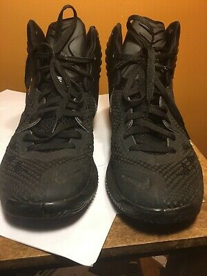 official photos f57c4 82104 Mens 2014 NIKE Zoom Hyperfuse 684591-001 Black Basketball Shoes High Tops  Sz 10