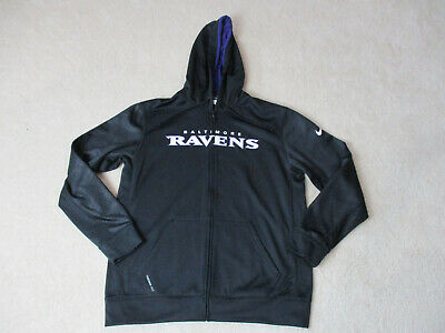 d042a49a NIKE BALTIMORE RAVENS Hoodie Sweater Adult Large Black White NFL Football  Mens