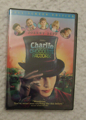 Johnny Depp Charlie and the Chocolate Factory DVD full-screen NEW SEALED PG