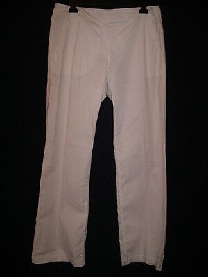 EILEEN FISHER  White Cotton Stretch Pants Slacks Trousers - S - NWT $178