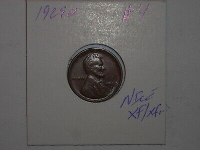 wheat penny 1929D LINCOLN CENT HIGH GRADE XF+ 1929-D LOT #4 VERY NICE LUSTER