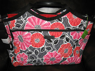 Vera Bradley CHEERY BLOSSOMS Carryall Travel Bag Tote Carryon Trolley Sleeve NWT