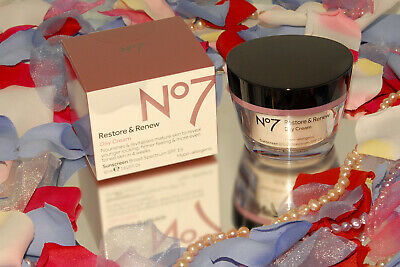 Boots ~ No 7 ~ Restore & Renew Youthful Vitality DAY Cream 1.6 oz Exp 2020 *NEW!