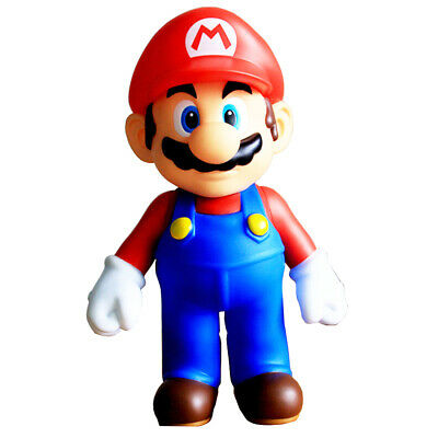 Super Mario Bros Toy 9.5inch Big Size Red Mario Pose able Action Children's Toy
