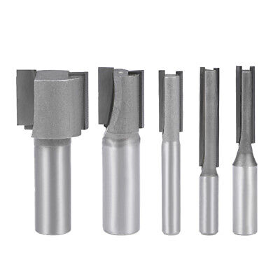 Router Bit 2 Straight Flutes HSS for Woodworking Milling Cutter Tool