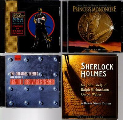 CD: Soundtracks DICK TRACY, PRINCESS MONONOKE, FILMS OF ARNOLD + SHERLOCK HOLMES