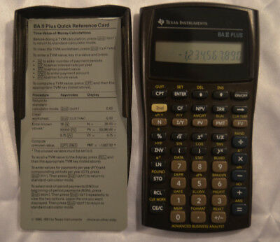 Texas Instruments BA II Plus Financial Calculator Working Business Analyst