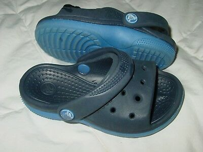 484058c4d16b Crocs Scutes Blue Duet Toddler 6 C 7 Beach Sandal Shoe Flip Flop Kid Baby  Child
