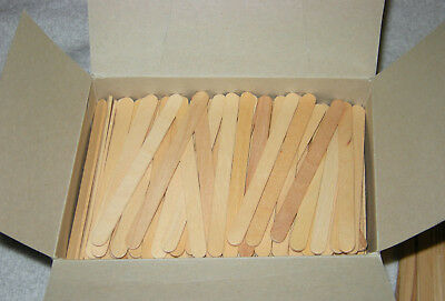 "100 FORSTER ECONOMY NATRL WOOD CRAFT POPSICLE STICKS 4.5"" LONG (108mm) MADE USA"
