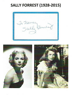 SALLY FORREST (d.2015) - Actress - Karloff Co-Star / Strange Door - Autograph