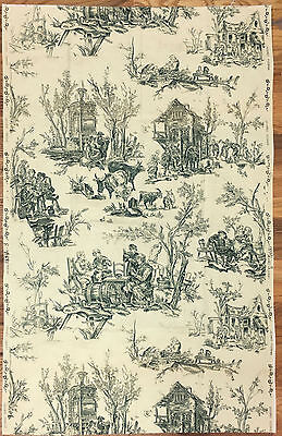 Antique Beautiful 19th C. French Scenic Toile Cotton Print (8200)