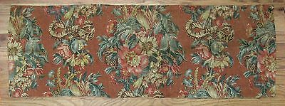 Vintage Beautiful 1930's American or English Printed Floral Linen (9940)