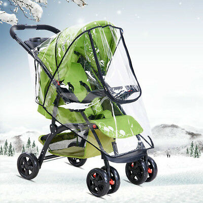 Baby Stroller Rain Cover Wind Universal Rain Canopy Raincoat for Pram Pushchair