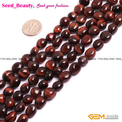 Natural Gemstone Freeform Chips Spacer  Loose Beads Jewelry Making Strand 15""