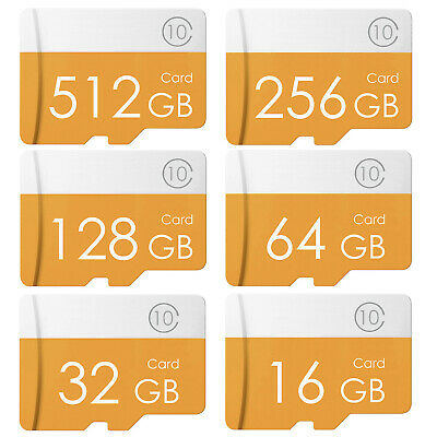 16GB 32GB 64GB 128GB 256GB 512GB Micro SD SDHC Class10 Fast Speed Memory Card