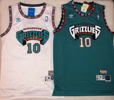 2e0a81621b35 Mike Bibby 10 Hardwood Throwback Vintage Jersey Vancouver Grizzlies Teal    White