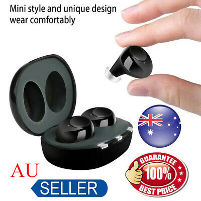 Rechargeable Small In Ear Invisible Hearing Aids Adjustable Tone Sound Amplifier
