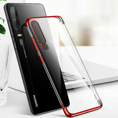 Cases For Huawei P20 P30 Pro P9 P8 P10 Lite Plating Silicone Hybrid Clear Covers