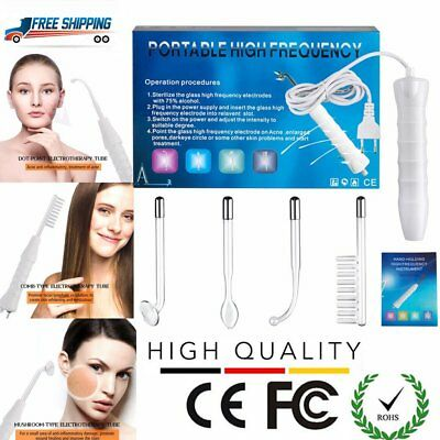 Portable High Frequency Facial Machine Wrinkle Skin Tightening Spot Remov KV
