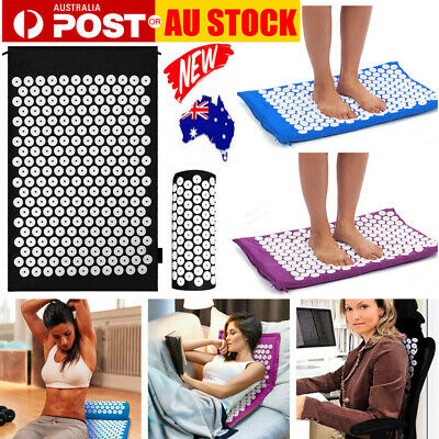 Massage Acupressure Mat Yoga Shakti Sit Lying Mats Pain Stress Soreness Relax AU