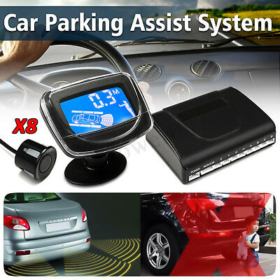 45e557ce2b2 Parking 8 Sensors Car Reverse Backup Rear Buzzer Radar System Alarm Monitor  Disp