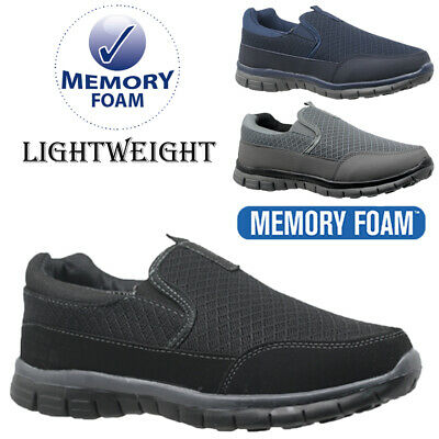 Mens Superlight Memory Foam Go Walk Summer Slip On Casual Pumps Trainers Shoes