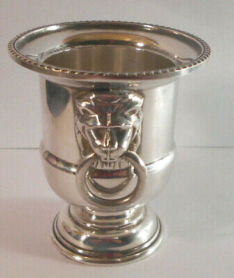 Viners of Sheffield England Silverplated Toothpick Candle Holder Lion Head Urn