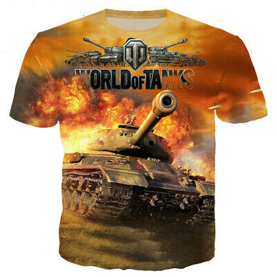 Women Men Casual TShirt 3D Print Game World Of Tanks Short Sleeve Summer Tee Top