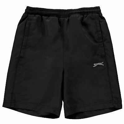Slazenger Kids Boys Woven Shorts Junior Pants Trousers Bottoms Mesh Colour Block