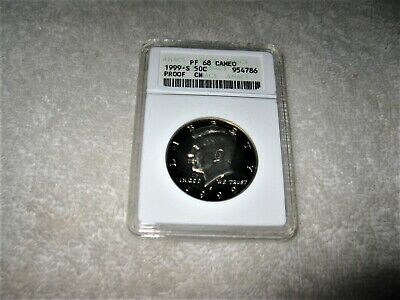 1999-S 50c Cent Kennedy Half Dollar ANACS PF 68 CAMEO JUST BEAUTIFUL