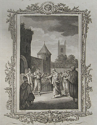 1779 Large Antique Engraving- Queen Emma - Fiery Trial at Winchester - J.Cooke