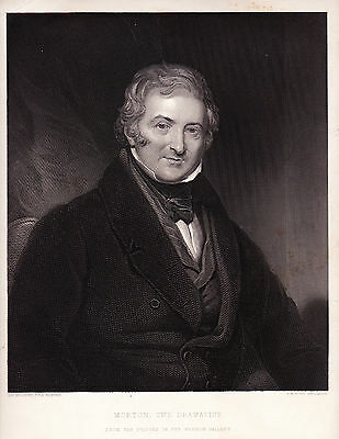 1806 Five Antique Prints - Thomas Morton (1764 - 1838) -  English Playwright -
