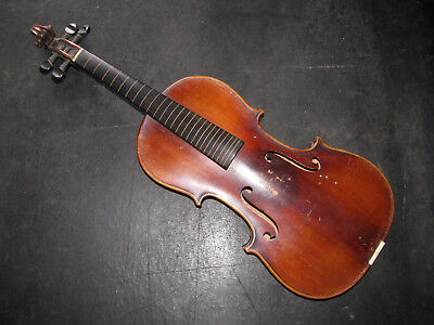 1899 CARL STORIONI 4/4 VIOLIN Markneukirchen/Rieger & Fiorini Germany ANTIQUE