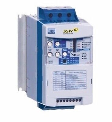 New, Weg, Ssw070024T5Sz, Soft Start, 220-575 Vac Rated, 3 Phase, 24A Rated.