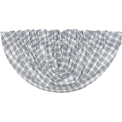 SAWYER MILL BLUE Plaid Balloon Valance Country Cotton Farmhouse Lined VHC Brands