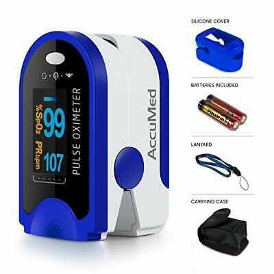 AccuMed CMS-50D Finger Pulse Oximeter Blood Oxygen SpO2 Sports Aviation Monitor