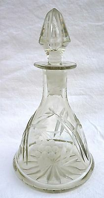 Cordial Carafe with Stopper Decanter Cut Glass 1900