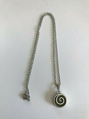In-laid Connemara Marble Spiral Pendant Necklace (Handmade in Ireland)