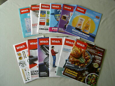 Which?: job lot of 12 magazines Jan-Dec 2016 complete