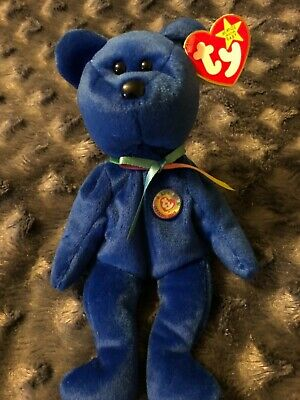56b164b2fdb RARE TY BEANIE BABY  CLUBBY WITH RED STAR ON TUSH TAG Errors on Swing Tag