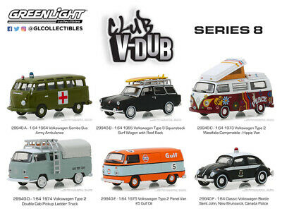 Greenlight Collectibles 29940-CASE 1:64 Club Vee-Dub Series 8 (Pack of 6)