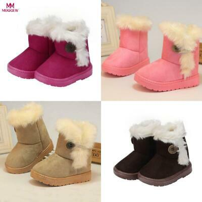 Winter Fashion Child Girls Snow Boots Solid Wool Warm Baby Girls Child Shoes For