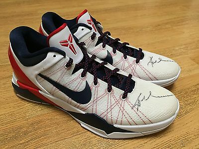 d3527d4af9fb Nike Usa Kobe Bryant 7 Signed 2012 Dream Team London Olympics Autograph  Shoes 14