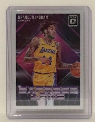 6cb7896c12c Brandon Ingram 2018-19 Donruss Optic Express Lane Insert #9 Los Angeles  Lakers