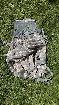 USGI ARMY Military Surplus ACU MOLLE Main Back Pack Ruck with padded waist belt