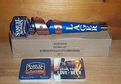Samuel Adams Beer Tap Handle Keg Marker & Sam Adams Bar Coasters New