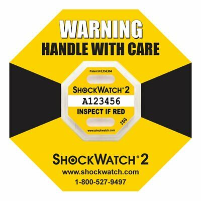 ShockWatch 2 Tamper-Proof Package Labels | Shipping Impact Indicators, 10-Pack