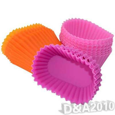 6x Spiral Silicone Mold// Jello Pudding CupCake Baking Muffin Molds #H8
